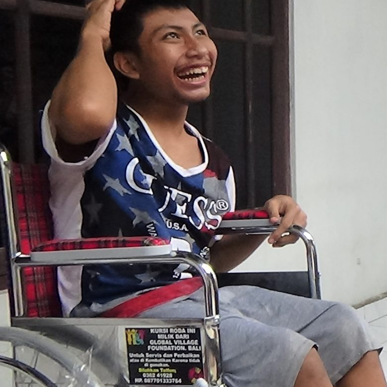 A wheelchair for Made Newuarta