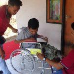 Wheelchairs for Tukad Sumoga Village.